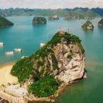 the peak of ti top island in halong bay