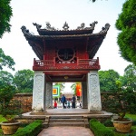 Temple of Literature in Hanoi Holiday