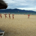 Volleyball at My Khe Beach