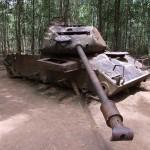 American tank in Cu Chi tunnels