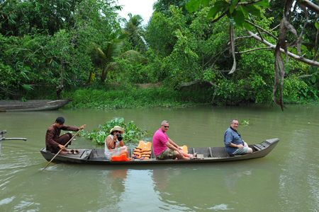 Boat ride though canals of Mekong Delta