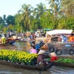Cai Be Floating Market Mekong Delta
