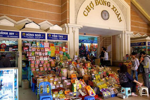 Dong Xuan market Hanoi Vietnam Holiday