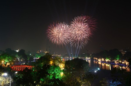 Hanoi fireworks in Independent Day