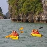 Kayaking though the World Heritage - Halong Bay