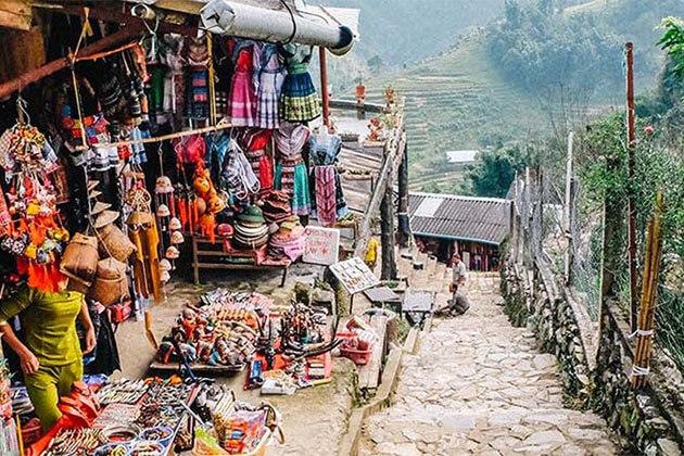 Local Market in Cat Cat Village