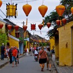 Walking around colorful streets in Hoi An