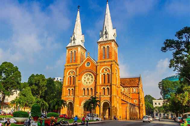 Saigon Notre Dame Cathedral Holiday in Vietnam
