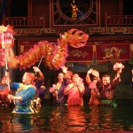 Water Puppet show in Thang Long Theatre